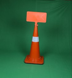 Traffic Cone With Message Plate