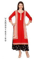 Designer Varanga Rayon Printed Kurtis