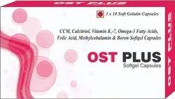 CCM Calcitriol Vitamin K2-7 Omega-3 Fatty Acids Capsules Folic Acid Methylcobalamin & Boron