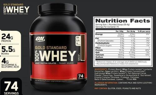 e4f08514a Muscle Tech Premium Optimum Nutrition Whey Protein 100% Gold Standard