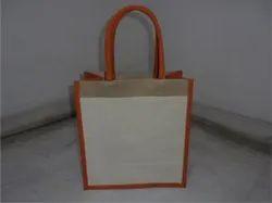 Dyed Gusset & Handle Jute Bag