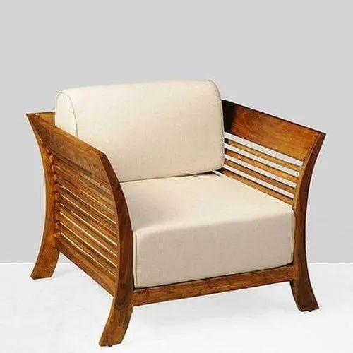 Modern Wooden Single Seater Sofa Chair