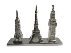 Aluminum Eiffel Tower With Big Ben & Empire Stae