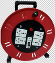 Industrial Extension Cable Reel with Universal Sockets