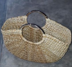 Ethica Brown Kauna Grass U- Bag, Size: H=11