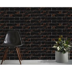 ESS ESS Glossy Black Potro High Gloss Strips Tiles, Size: 200x1200 mm