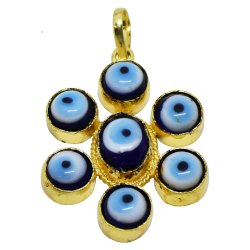 Evil Eye Pendant, Good Luck Charm, Nazar Battu, Bohemian Room Decor, House Warming Gift