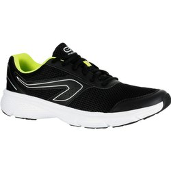 Kalenji Mens Black And Yellow Run Cushion Running Shoes