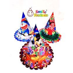 Cartoon Printed Birthday Cap