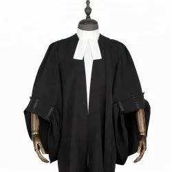 Black Unisex advocate/Lawyer Gown, Size: free