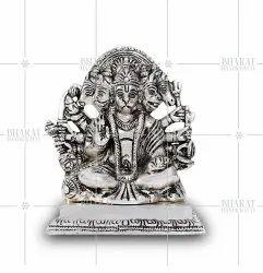 Silver Plated Panchmukhi Hanuman Statue