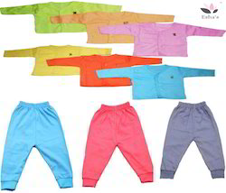 Multicolor Cotton Esha's Branded Baby Shirt Pant Set Size Small