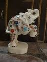 Marble Inlay Elephant Sculpture