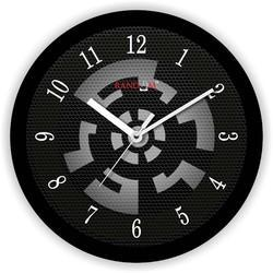 Relay Black Wooden Wall Clock