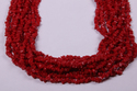 Red Stone Uncut Chips Beads