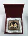 Laxmi Ganesh Gold Leaf Frame 24 kt.