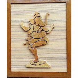 Ethica Golden Ganesha Wall Hangings Painting