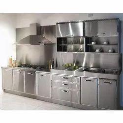Straight Stainless Steel Modular Kitchen, Warranty: 5 Year