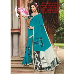 Rachna Georgette Embroidery Work Grazia Saree For Women 6