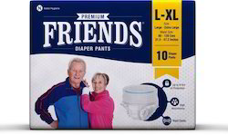 Friends Adult Pant Style Pull UPS / Diapers, L-XL,10 Pcs.