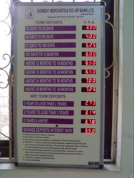 Bank Interest Display Board