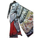 Party Wear Ladies Pure Silk Dye Block Printed Saree, With Blouse Piece, 6.5 M