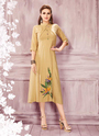 Party Wear A Line Designer Rayon Kurtis Collection