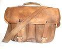Vintage Leather Office Shoulder Bag