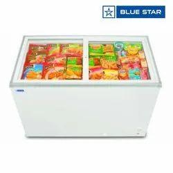Blue Star GT300A 300 Ltrs Glass Top Deep Freezer