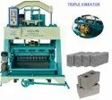Triple Vibration Vibrator Block Making Machine
