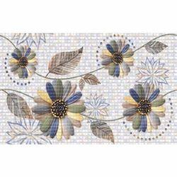 Digital Flower Print  Wall Tile