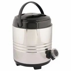 White 5 Liters Steel Water Jug, Cold Time: 6 Hours