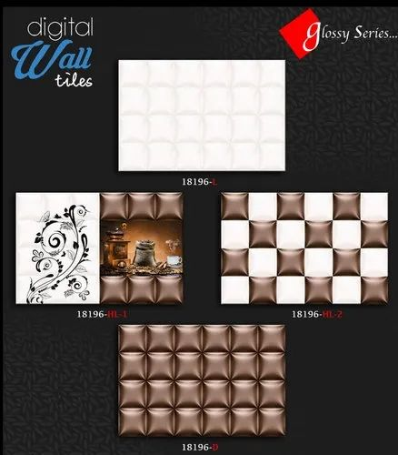 18196 Kitchen Ceramic Wall Tile, Thickness: 8 - 10 mm