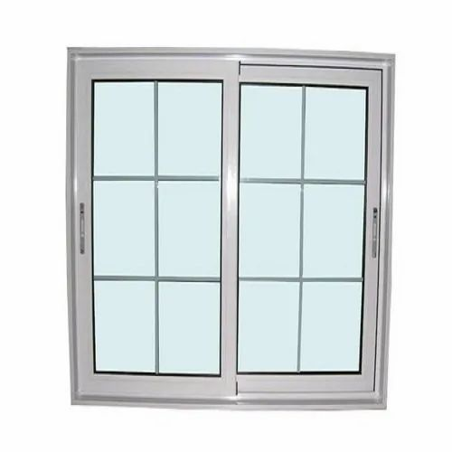 Modern Powder Coated Rectangular Aluminium Window, for Home,Office