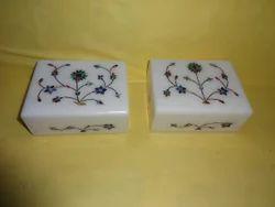 Decorative Marble Inlay Jewelry Box