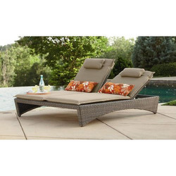 Synthetic Wicker Pool Lounger