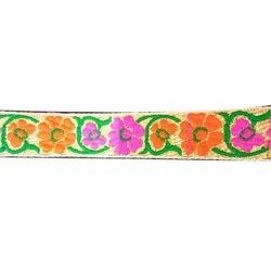Embroidered Garments Ribbon, Length: 45 Meter