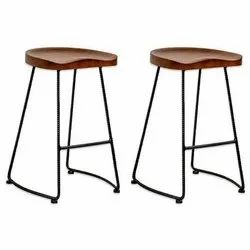 Wooden High Counter Stool