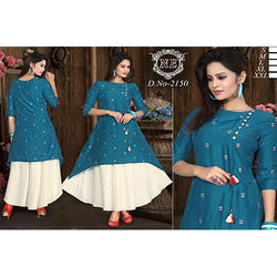 Muslin And Rayon Flex Kurti