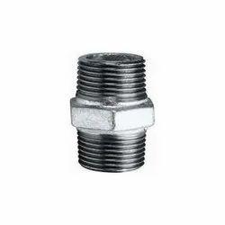 2 inch GI Galvanised Iron Hex Nipple, For Plumbing Pipe