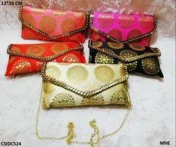Beautiful Raw Silk Clutch Bag