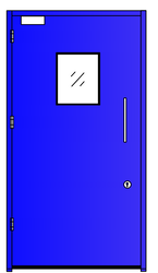 Clean Room Doors  ( Single Leaf With View Panel)