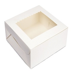 9SP 250 gms Special White Cake Box with Scallop Window