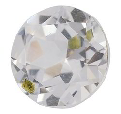 White Glass Cubic Zirconia Gemstone