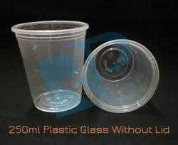 7 Inch Transparent 250 ml Disposable Plastic Glass, 2mm