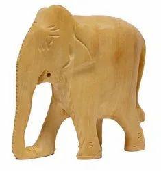 Wooden Elephant Plain (H 8.00 cm X L 8.00 cm ), For Home Decor