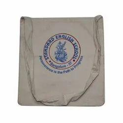 Beige Printed Cotton Cloth Bag