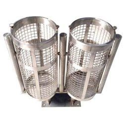 Dual Unit Round Shape Dustbin