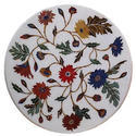 Marble Inlay Round Table Top