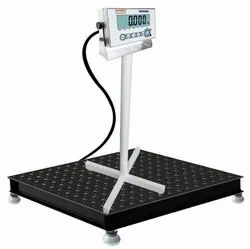 Industrial Heavy-Duty Floor Scale with Stainless Steel Console